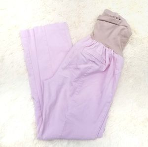 Motherhood Maternity pink pants full belly XL